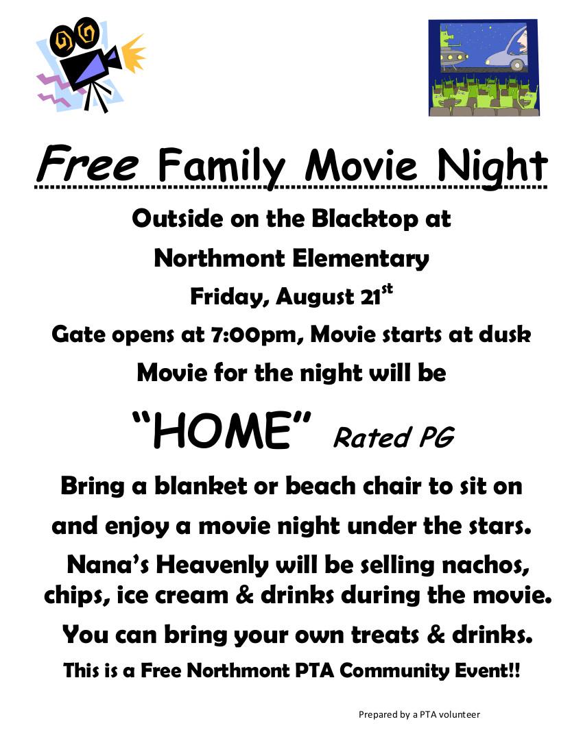 Free Family Movie Night Home