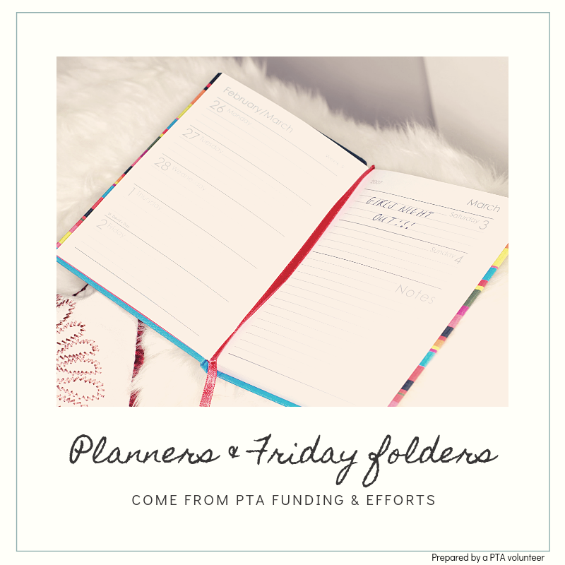 Planners and Friday Folders Northmont PTA