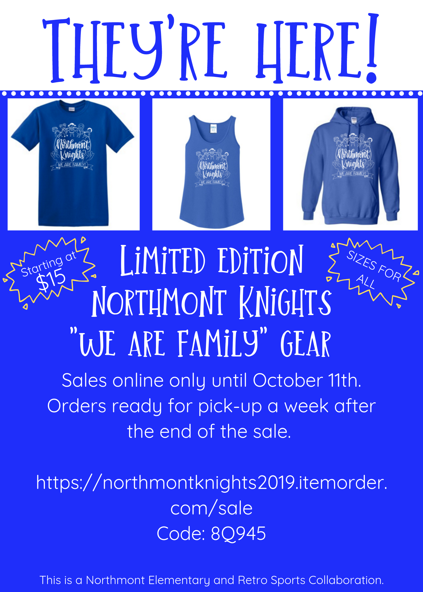 Northmont Knights – We Are Family Gear