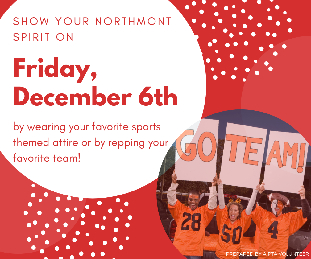 Northmont spirit day Friday, December 6th
