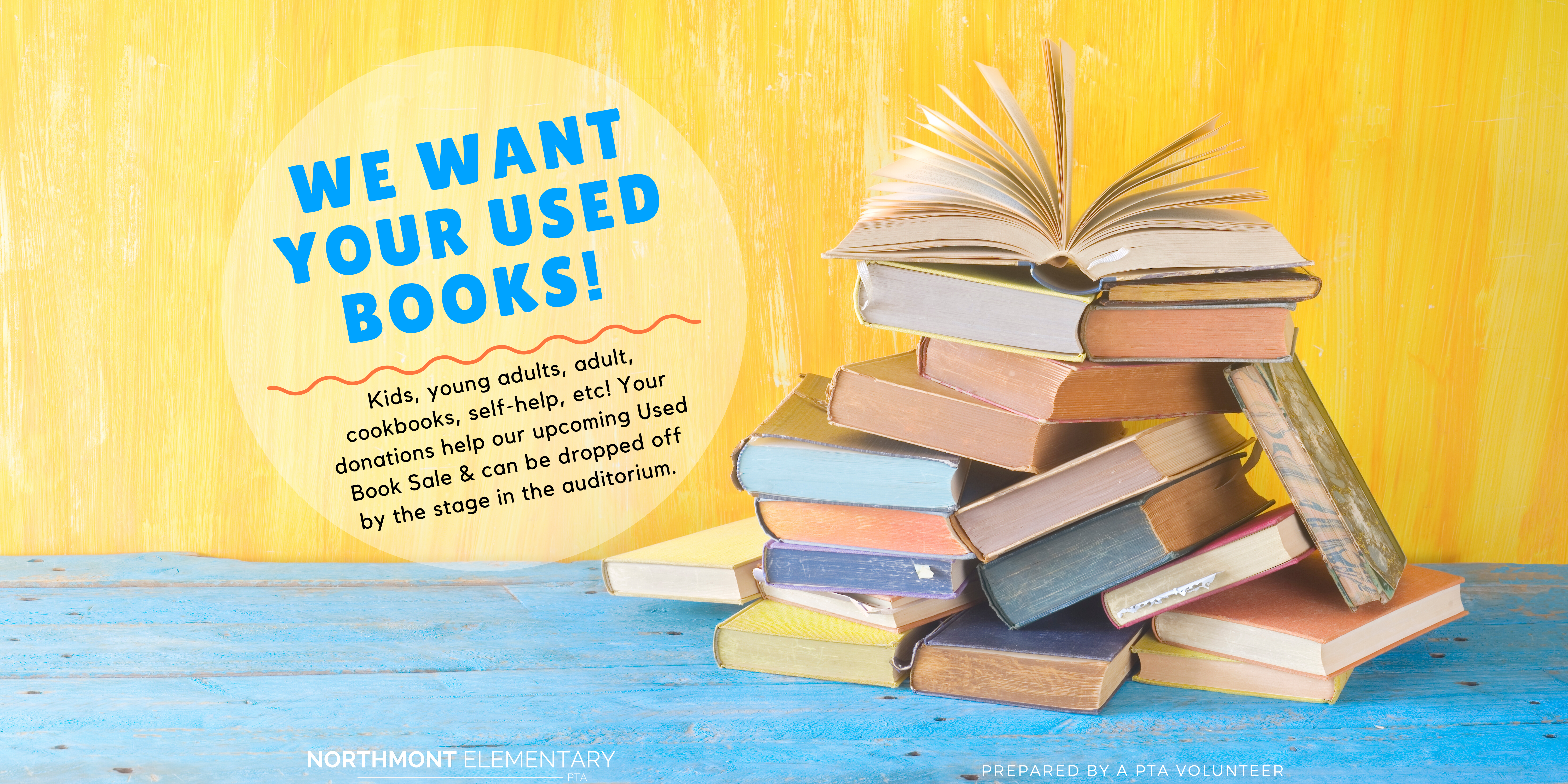 WE WANT YOUR USED BOOKS!