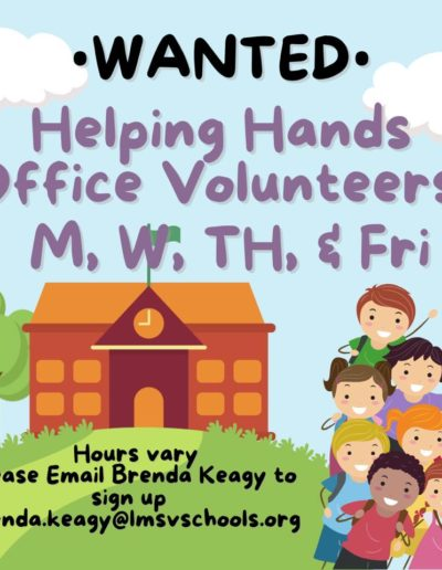 Helping Hands office volunteers wanted
