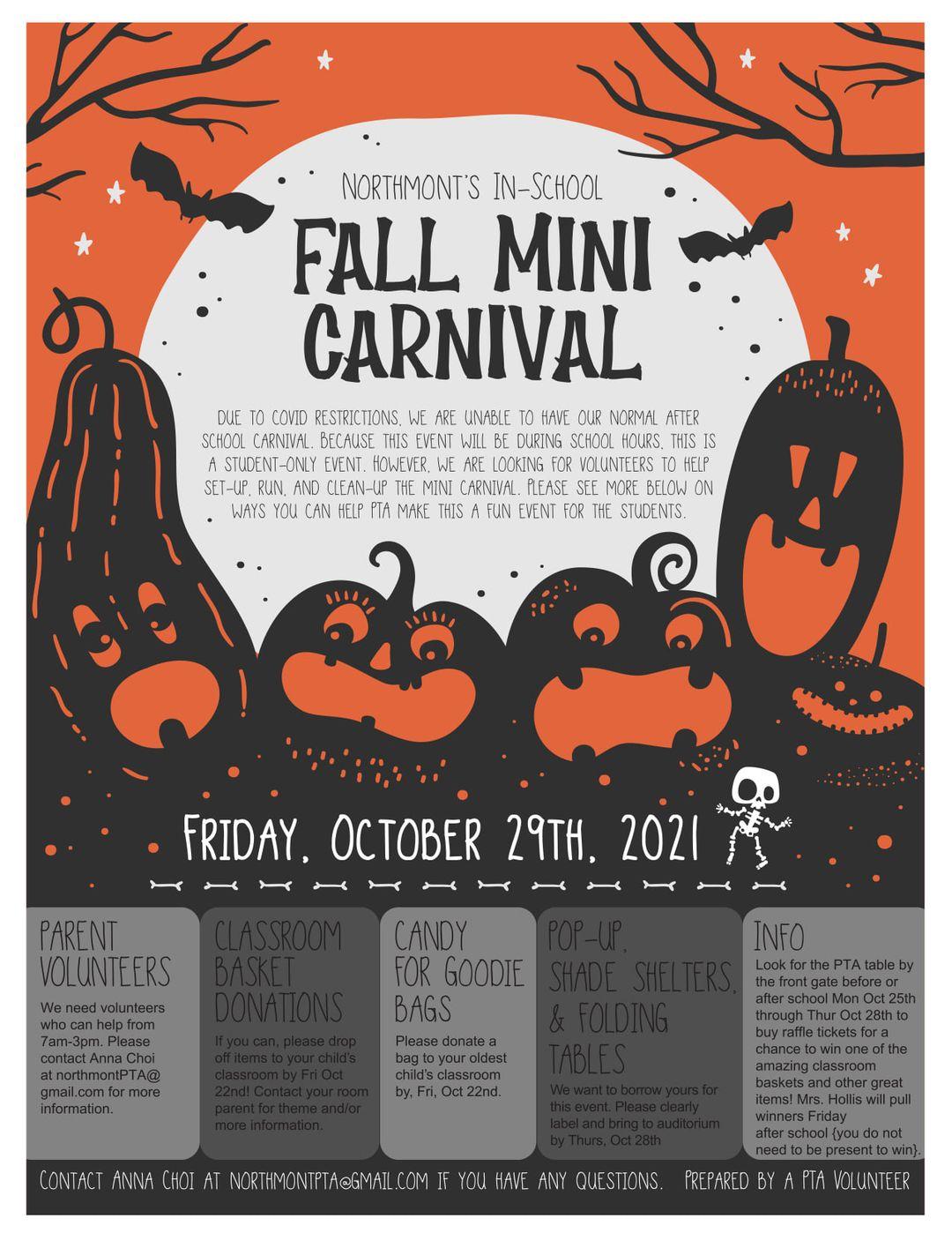 Fall Mini Carnival flyer