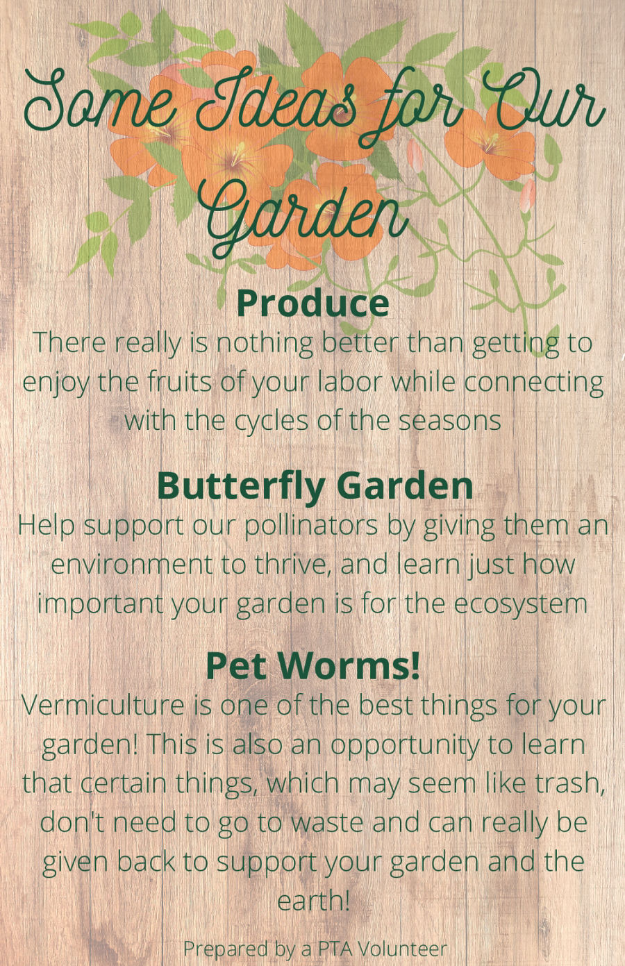Some Ideas for Our Garden flyer