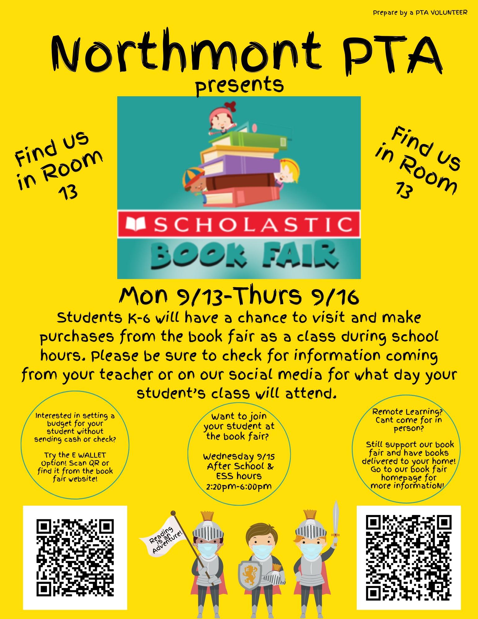 Northmont Book Fair Flyer